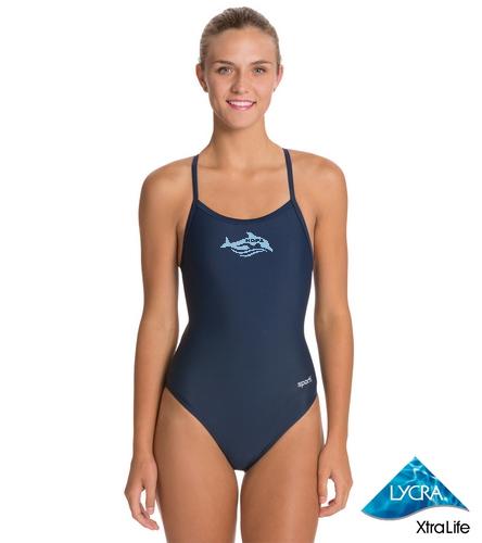 Women's Swim Suit - Sporti Solid Thin Strap One Piece Swimsuit
