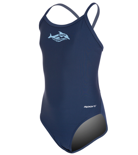 Girls' Swim Suit - Sporti Solid Thin Strap One Piece Swimsuit Youth (22-28)
