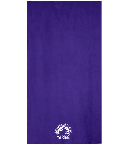 Tucson Tri Girls - Royal Comfort Terry Velour Beach Towel 32 X 64