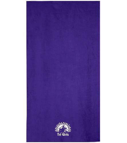 Tucson Tri Girls 2 - Royal Comfort Terry Velour Beach Towel 32 X 64