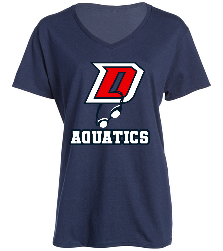 Ladies DHS V-neck - SwimOutlet Women's Cotton V-Neck T-Shirt