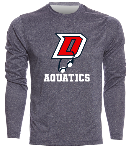 DHS Men's Long Sleeve - SwimOutlet Men's Long Sleeve Tech T Shirt