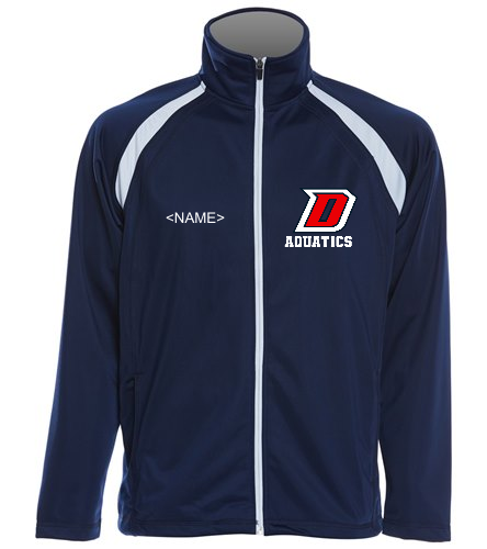 DHS Blue/White Full Zip - SwimOutlet Sport-Tek® Men's Tricot Track Jacket