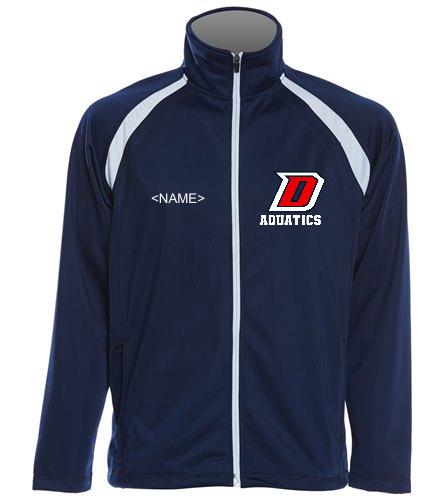 DHS Blue/White Full Zip - SwimOutlet Sport-Tek®Men's Tricot Track Jacket