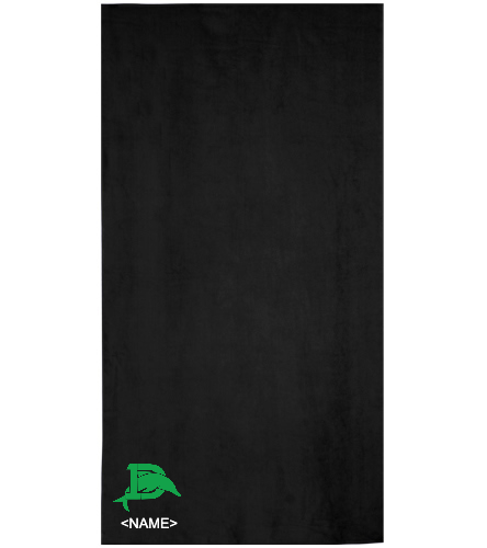 Personalized towel with logo - Royal Comfort Terry Velour Beach Towel 32 X 64
