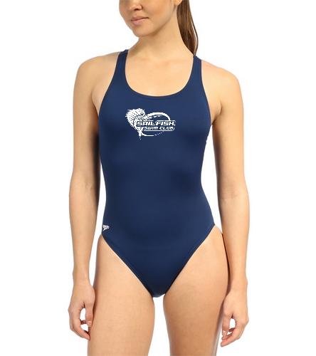 Sailfish Swim Club - Speedo Women's Solid Endurance+ Super Proback One Piece Swimsuit