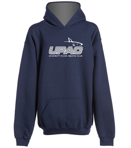 Navy Hoodie (w/ name) - SwimOutlet Youth Heavy Blend Hooded Sweatshirt
