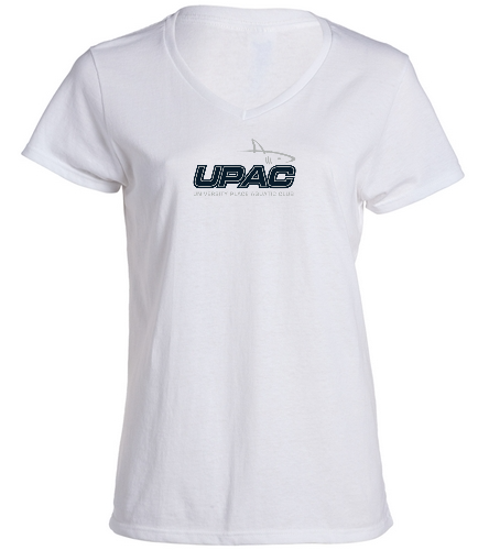 UPAC Women's V-Neck - SwimOutlet Women's Cotton V-Neck T-Shirt
