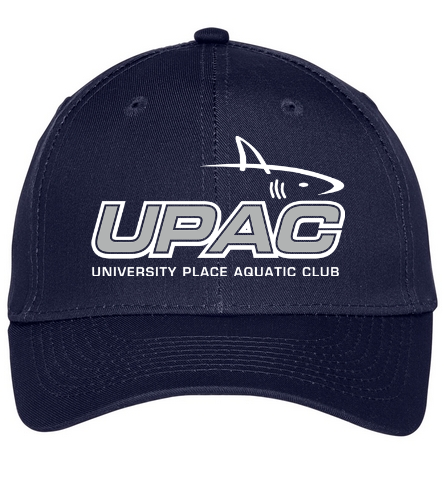UPAC Navy Cap - SwimOutlet Unisex Performance Twill Cap