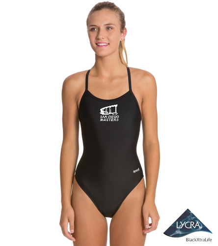 City of San Diego Masters women's suit 1 - Sporti Solid Thin Strap One Piece Swimsuit