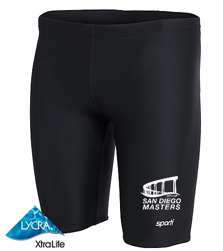City of San Diego Masters men's jammer 1 - Sporti Solid Compression Jammer Swimsuit