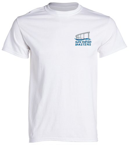 City of San Diego Masters T-shirt white - SwimOutlet Unisex Cotton Crew Neck T-Shirt