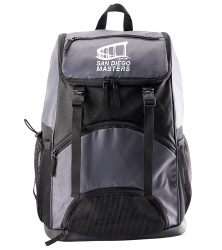 City of San Diego Masters backpack grey - Sporti Large Athletic Backpack