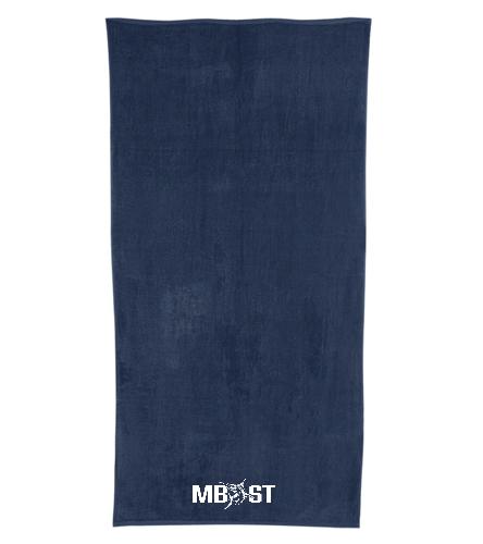 Meadowbrook Marlins - Navy  - Royal Comfort Terry Velour Beach Towel 32 X 64