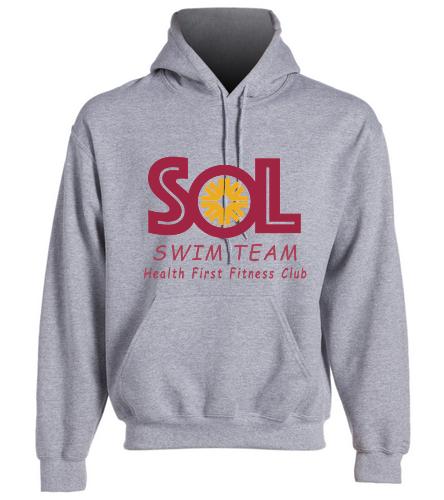 Swim Team Adult size hooded sweatshirt - SwimOutlet Heavy Blend Unisex Adult Hooded Sweatshirt