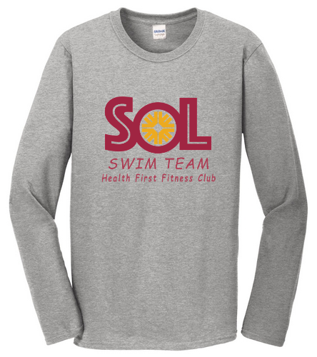 Grey Long Sleve - SwimOutlet Cotton Unisex Long Sleeve T-Shirt