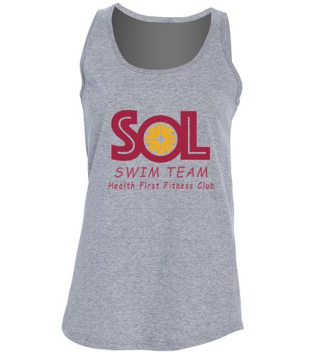 Women's Swim team tank - SwimOutlet Women's Cotton Racerback Tank Top