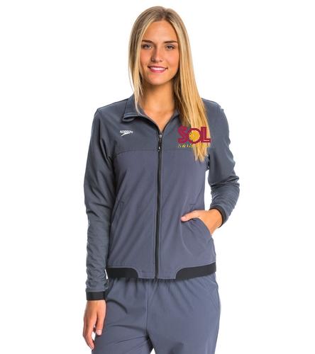 Swim team womens jacket - Speedo Women's Tech Warm Up Jacket