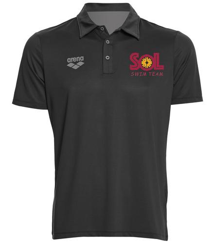 Swim Team Polo HFFC - Arena Unisex Team Line Tech Short Sleeve Polo