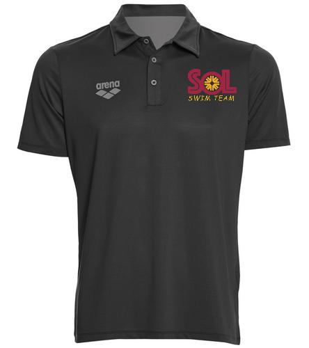Swim Team Polo HFFC 2 - Arena Unisex Team Line Tech Short Sleeve Polo