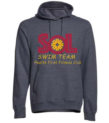Swim Team Adult Fleeced Hooded sweatshirt - SwimOutlet Adult Fan Favorite Fleece Pullover Hooded Sweatshirt