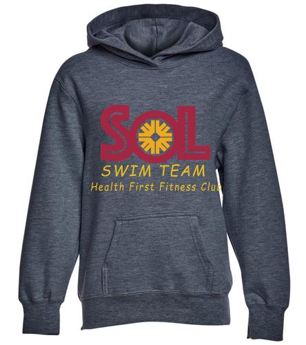 Swim Team Youth Fleece Hooded Sweatshirt - SwimOutlet Youth Fan Favorite Fleece Pullover Hooded Sweatshirt