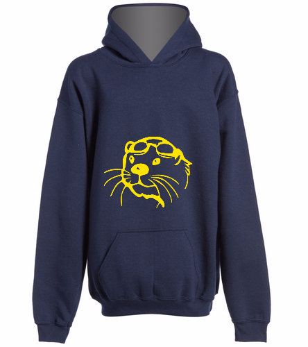 Team Hoodie -  Navy, Optional name on back - SwimOutlet Youth Heavy Blend Hooded Sweatshirt