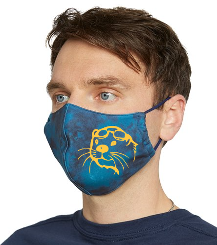 Tie Dye Mask with Otter Head - Everyday Yoga Tie Dye Face Mask