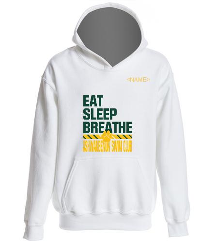 ASC Youth Eat Sleep Breathe Hoodie - SwimOutlet Youth Heavy Blend Hooded Sweatshirt