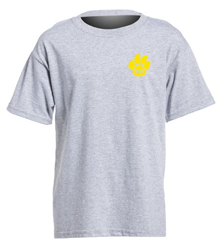 ASC Youth t-shirt grey - SwimOutlet Youth Cotton Crew Neck T-Shirt