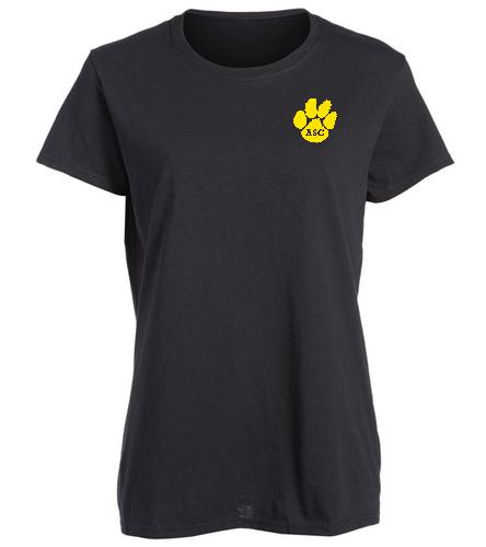 ASC Female t-shirt black - SwimOutlet Women's Cotton Missy Fit T-Shirt