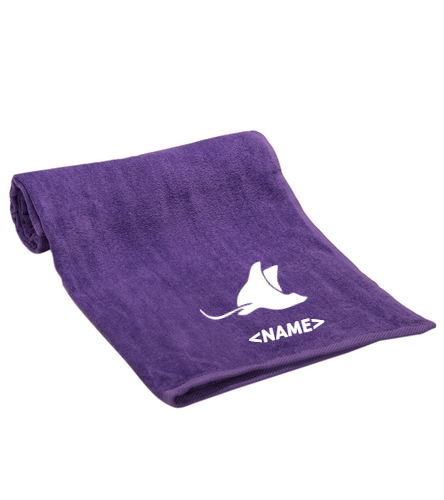 Manta Rays Team Towel - Diplomat Terry Velour Beach Towel 30 x 60