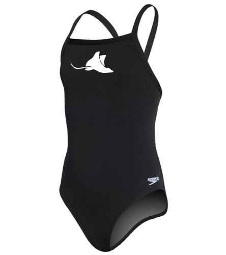Manta Rays Girls Suit-Youth Speedo - Speedo Girls' Solid Endurance + Flyback Training Swimsuit