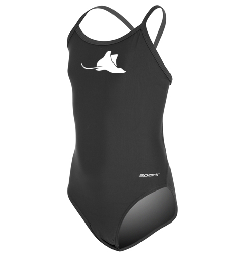 Manta Rays Team Suit Girls Youth Sporti Thin - Sporti Solid Thin Strap One Piece Swimsuit Youth (22-28)