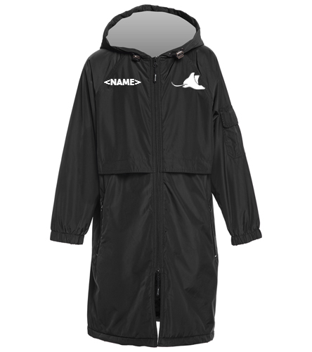Manta Rays Team Parka-Youth - Sporti Comfort Fleece-Lined Swim Parka Youth