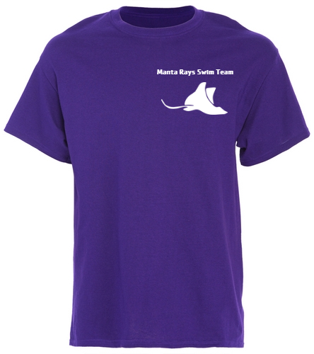 Manta Rays Team Tee - SwimOutlet Unisex Cotton T-Shirt - Brights