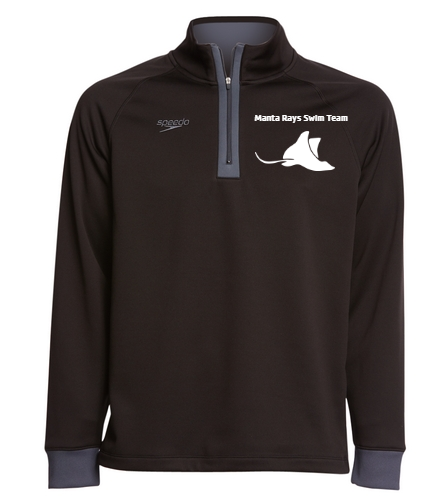 Manta Rays Team 3/4 Zip-Black - Speedo Unisex 3/4 Zip Sweatshirt