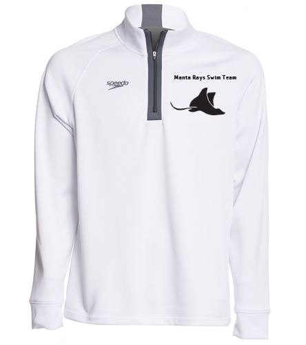 Manta Rays 3/4 Zip-White - Speedo Unisex 3/4 Zip Sweatshirt