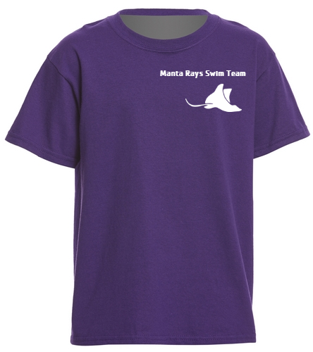 Manta Rays Team Tee-Youth - SwimOutlet Youth Cotton T Shirt - Brights