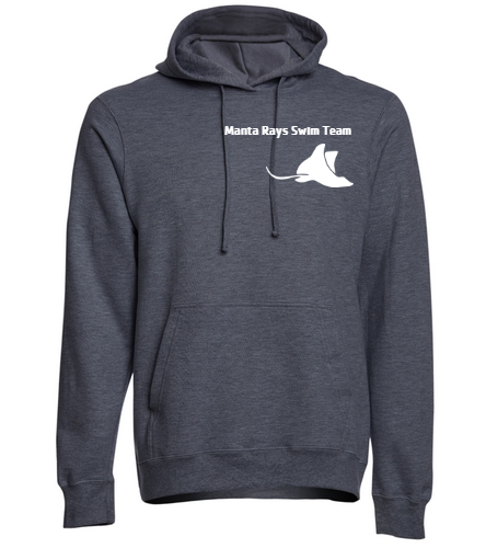 Manta Rays Team Hoodie-Gray - SwimOutlet Adult Fan Favorite Fleece Pullover Hooded Sweatshirt