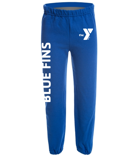 Youth Blue Fins Sweatpants - SwimOutlet Heavy Blend Youth Sweatpant