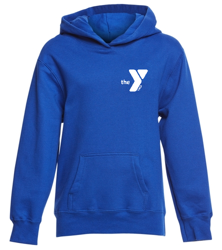 Blue Fins Hoodie - SwimOutlet Youth Fan Favorite Fleece Pullover Hooded Sweatshirt