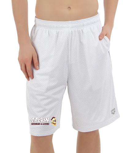 Calvin Shorts White/Maroon - Arena X-Long Bermuda OL Shorts