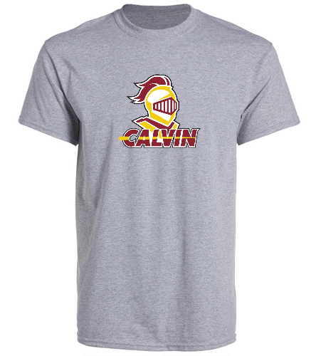 Calvin Grey Team Shirt - SwimOutlet Unisex Cotton Crew Neck T-Shirt