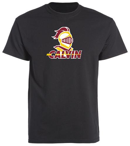 Calvin Black Team Shirt - SwimOutlet Unisex Cotton Crew Neck T-Shirt