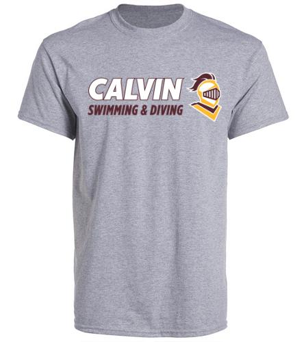 Grey Cotton T Calvin - SwimOutlet Unisex Cotton Crew Neck T-Shirt