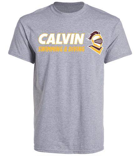 Calvin T Grey/Gold - SwimOutlet Unisex Cotton Crew Neck T-Shirt