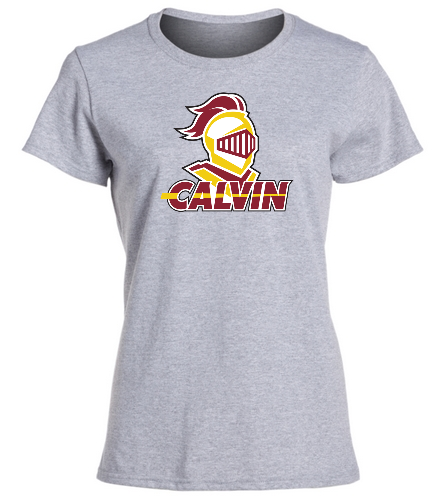 Calvin Grey Women's Team Shirt - SwimOutlet Women's Cotton Missy Fit T-Shirt