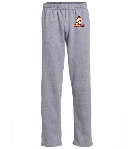 Grey Sweatpant - SwimOutlet Heavy Blend Unisex Adult Open Bottom Sweatpants