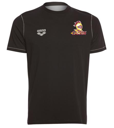 Calvin Black Arena Tee - Arena Unisex Team Line Crew Neck Short Sleeve T Shirt